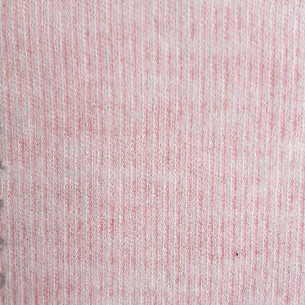 Pastel Pink Marle - 2 way stretch 100% Cotton Jersey Fabric - You've Got Me In Stitches