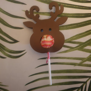 Reindeer lollipop holder Christmas gift - You've Got Me In Stitches