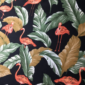 Tropical Flamingo Cotton Poplin Fabric - You've Got Me In Stitches