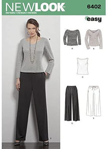 New Look Pattern 6402 Misses' Pants & Knit Tops