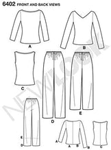 Load image into Gallery viewer, New Look Pattern 6402 Misses' Pants & Knit Tops