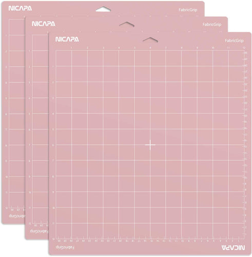 Nicapa Cricut Cutting Mat - Fabric Grip - 12 x 24 inch - 30x60cm - 3 pack