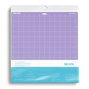 Nicapa Cricut Cutting Mat - Light, Standard and Strong Grip - 12 x 12 inch - 30x30cm - 3 pack - You've Got Me In Stitches