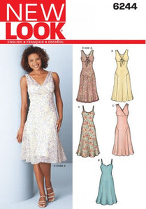 New Look Pattern 6244 Misses Dress and Slip Dress