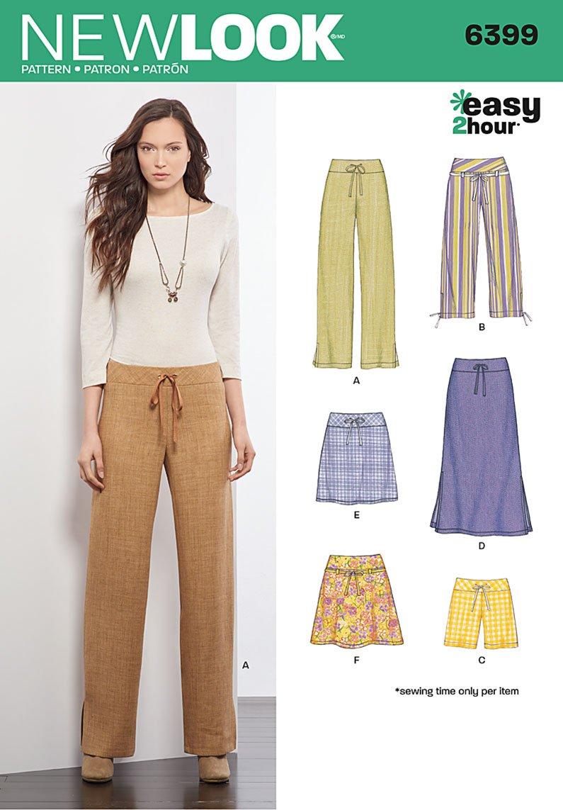 New Look Pattern 6399 Misses' Pants and Skirts