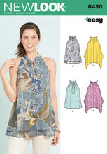 Load image into Gallery viewer, New Look Pattern 6450 Easy Tops with Optional Neck Tie