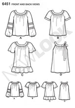 Load image into Gallery viewer, New Look Pattern 6451 Blouse with Length and Sleeve Variations