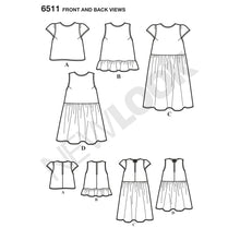 Load image into Gallery viewer, New Look Pattern 6511 Misses' Top with Length and Sleeve Variations
