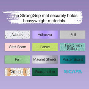Nicapa Cricut Cutting Mat - Strong Grip - 12 x 12 inch - 30x30cm - 1 pack - You've Got Me In Stitches