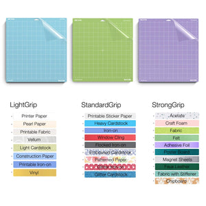 Nicapa Cricut Cutting Mat - Light, Standard and Strong Grip - 12 x 24 inch - 30x60cm - 3 pack - You've Got Me In Stitches