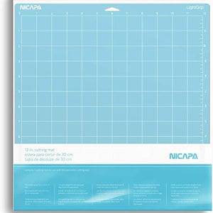 Nicapa Cricut Cutting Mat - Light Grip - 12 x 12 inch - 30x30cm - 1 pack