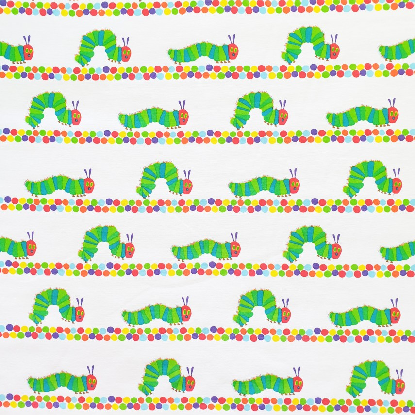 The Very Hungry Catepillar Polycotton Duck Fabric