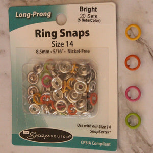Snap Source Size 14 Ring Snaps - 20 Sets - 5 sets per colour - You've Got Me In Stitches