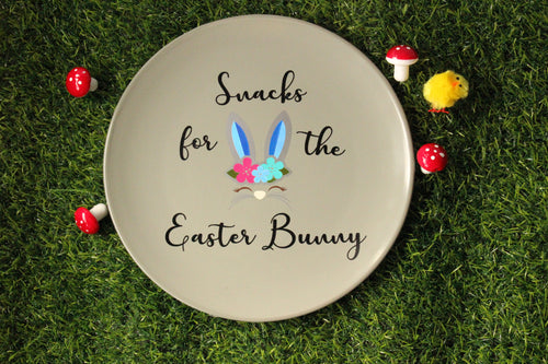 Snacks for the Easter Bunny Plate - You've Got Me In Stitches
