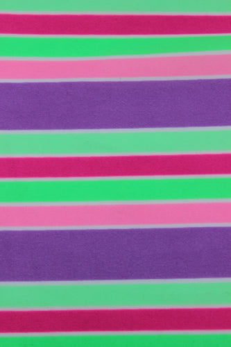 Printed Bright Striped Nylon Elastane Fabric (Spandex, lycra)