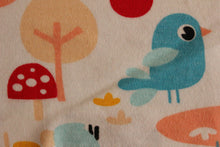 Load image into Gallery viewer, Birds, trees and rainbows - 2 way stretch 100% Cotton Jersey fabric - You've Got Me In Stitches