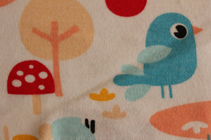 Birds, trees and rainbows - 2 way stretch 100% Cotton Jersey fabric - You've Got Me In Stitches