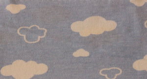 Blue Clouds - 2 way stretch 100% Cotton Jersey - You've Got Me In Stitches