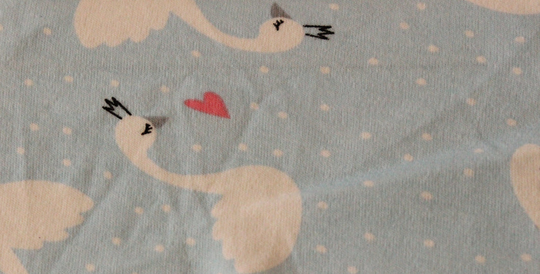 Blue Swans - 2 way stretch 100% Cotton Jersey - You've Got Me In Stitches