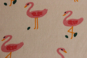 Flamingos - 2 way stretch 100% Cotton Jersey - You've Got Me In Stitches