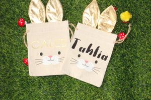 Personalised Happy Easter Hunt Bags - Small - You've Got Me In Stitches
