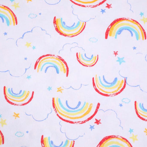 Rainbows - 2 way stretch 100% Cotton Jersey fabric - You've Got Me In Stitches