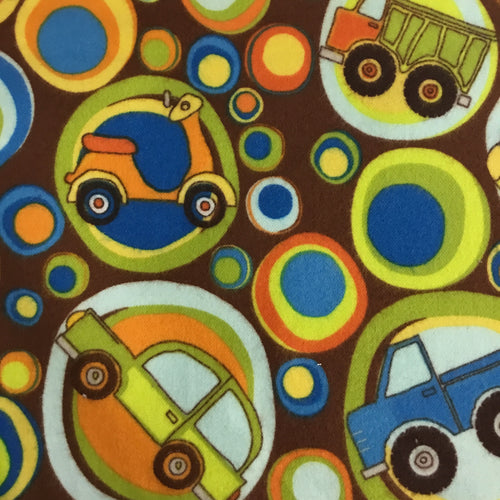 Riley Blake designs Construction and transport 100% cotton Flannel fabric - You've Got Me In Stitches