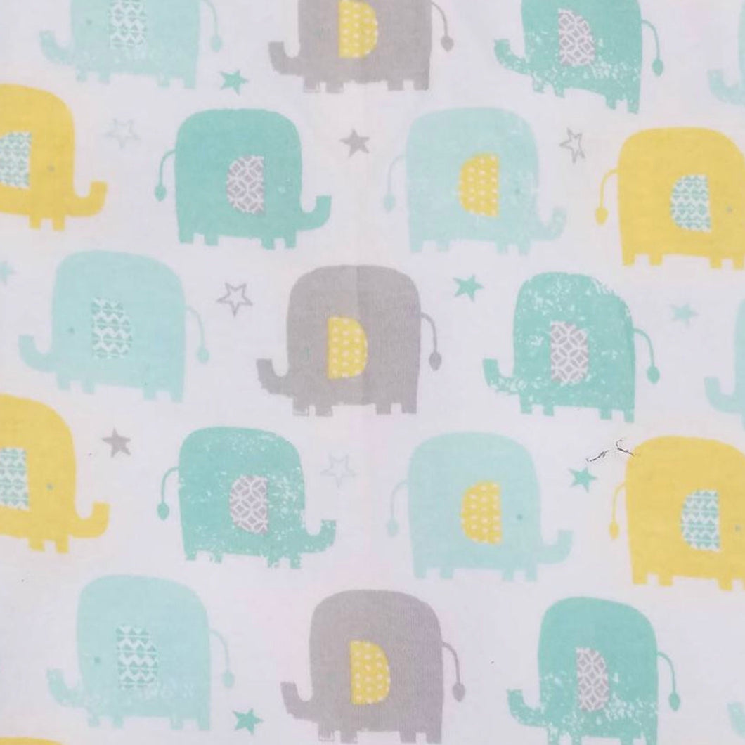 Elephants - 2 way stretch 100% Cotton Jersey fabric - You've Got Me In Stitches