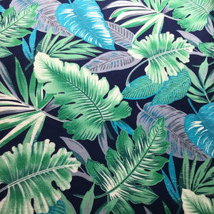 Colourful tropical leaves 100% cotton Poplin fabric