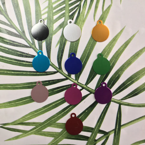 Blank Circle Animal Pet Tag (Dog, Cat and Others) - Various Colours