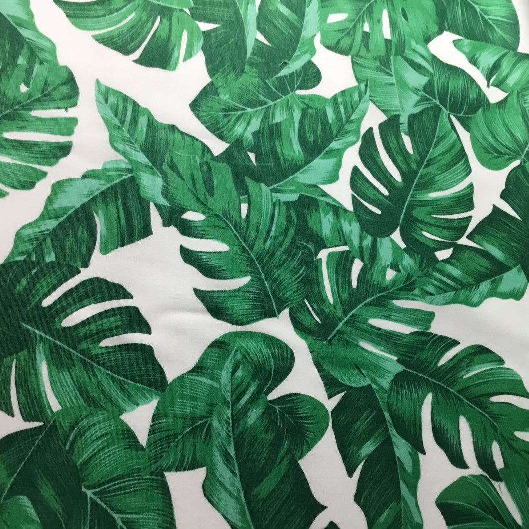 Tropical leaves 100% cotton poplin