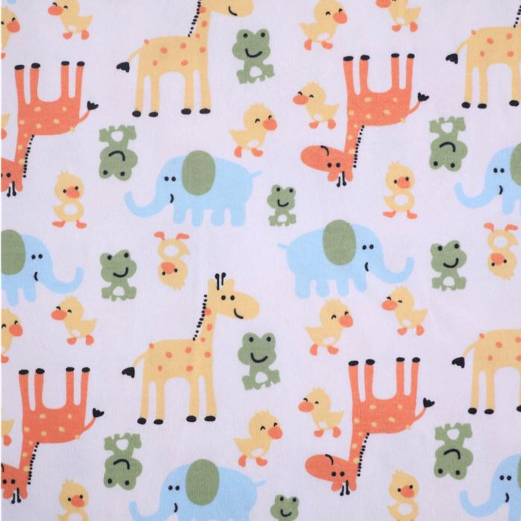 Giraffes, frogs and ducks - 2 way stretch 100% Cotton Jersey fabric - You've Got Me In Stitches