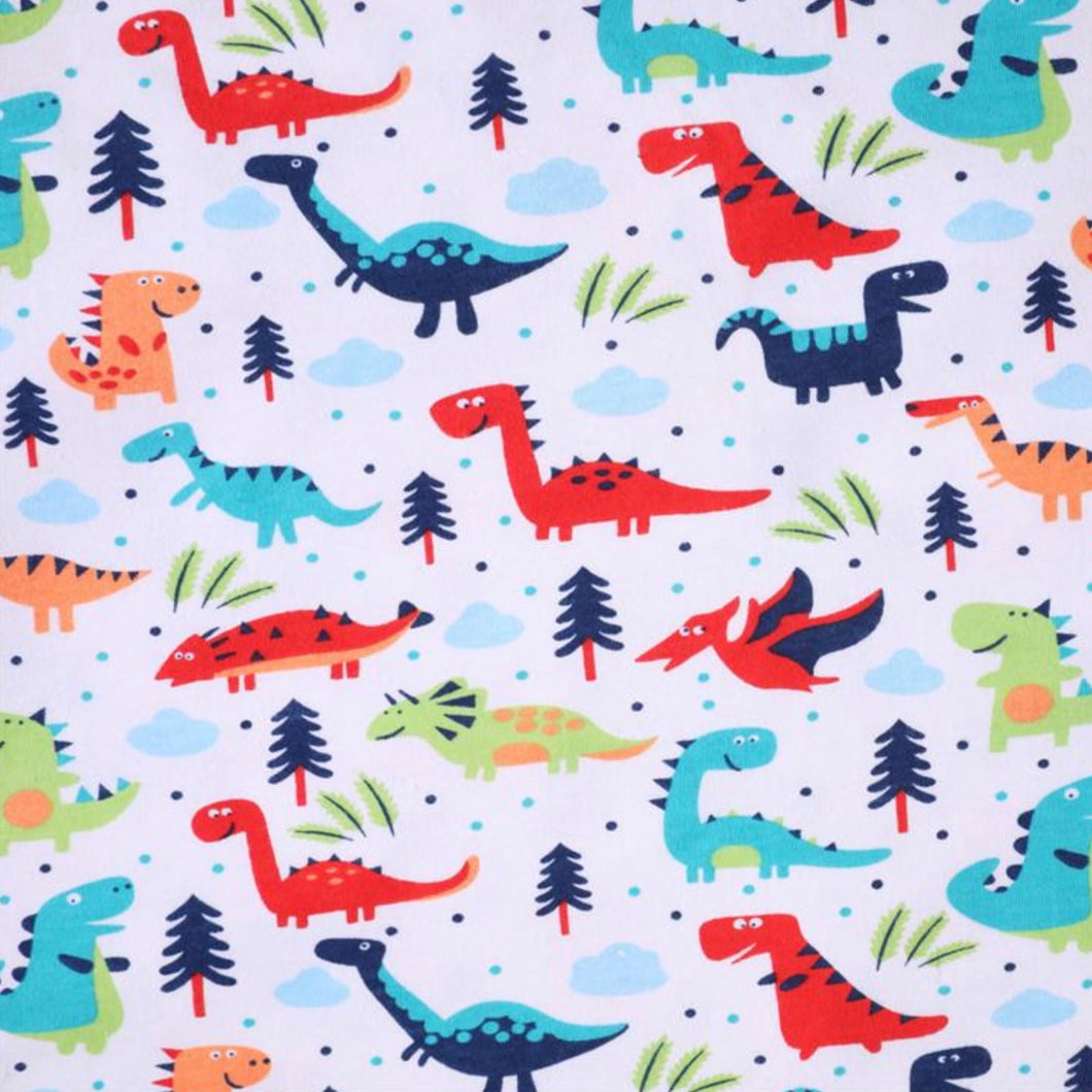 Dinosaurs - 2 way stretch 100% Cotton Jersey fabric - You've Got Me In Stitches