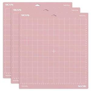 Nicapa Cricut Cutting Mat - Fabric Grip - 12 x 24 inch - 30x60cm - 1 Pack