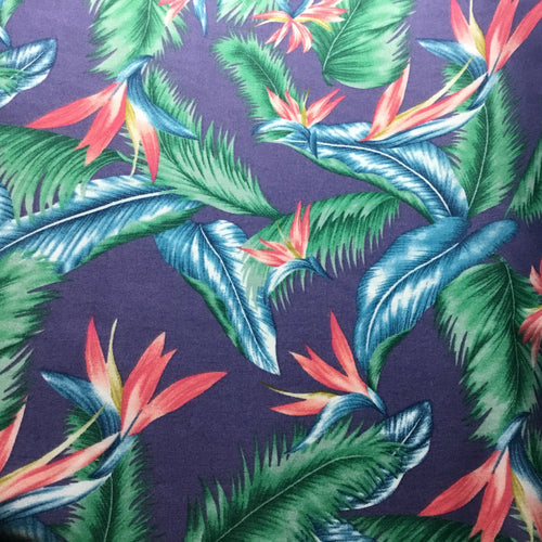 Birds of paradise 100% Cotton Poplin Print