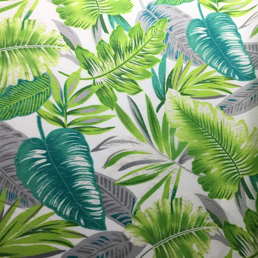Colourful tropical leaves 100% cotton Poplin fabric - You've Got Me In Stitches