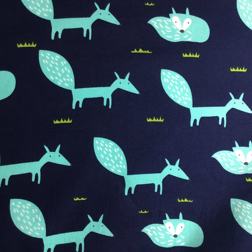Contemporary Fox print 100% cotton poplin