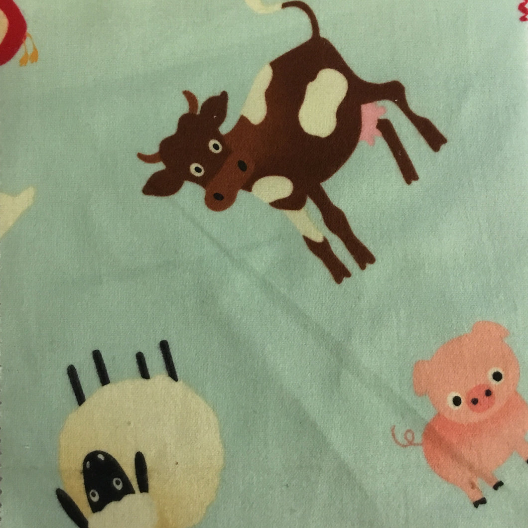 Riley Blake designs Farm animals 100% cotton flannel - You've Got Me In Stitches