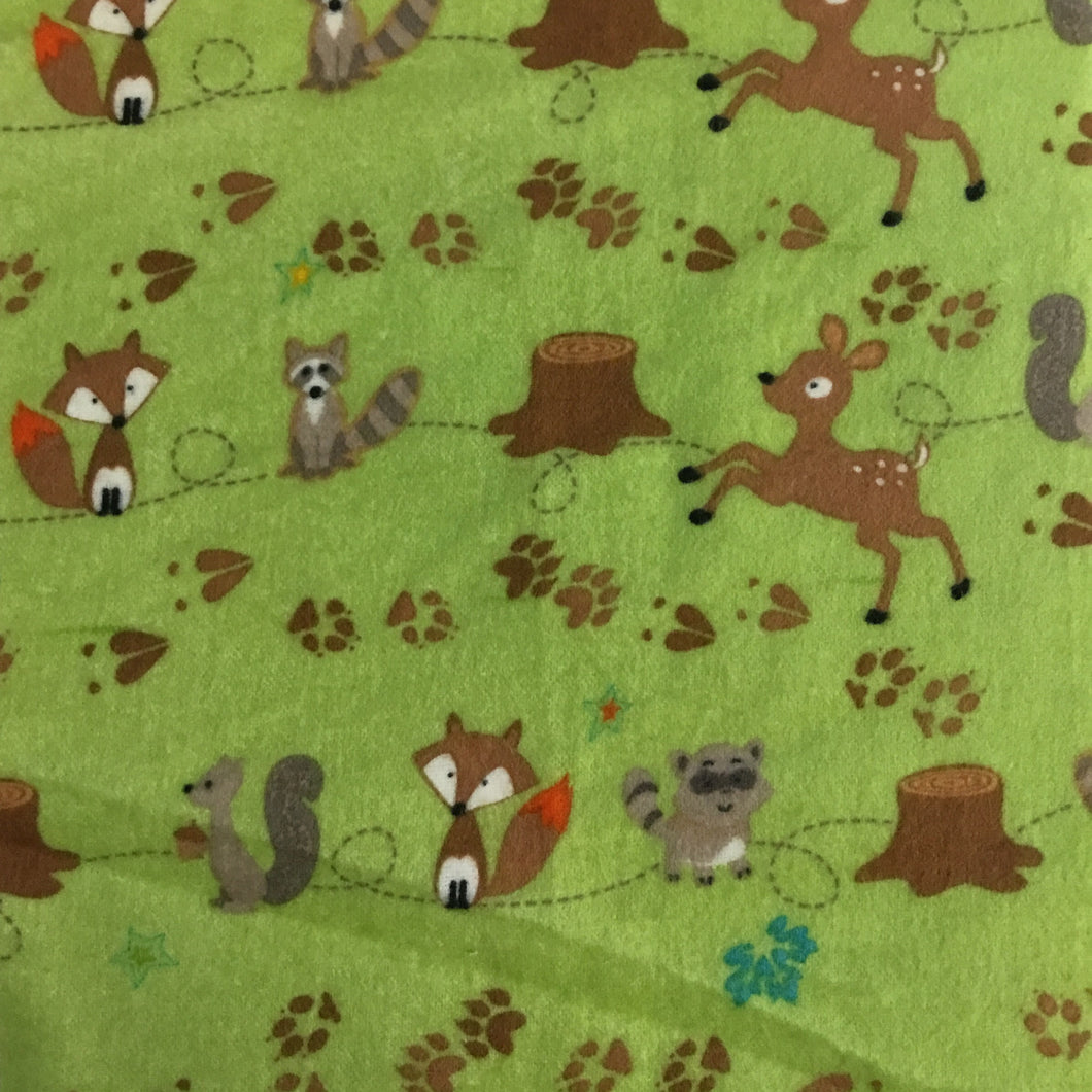 Riley Blake designs Woodland animals 100% cotton flannel fabric - You've Got Me In Stitches