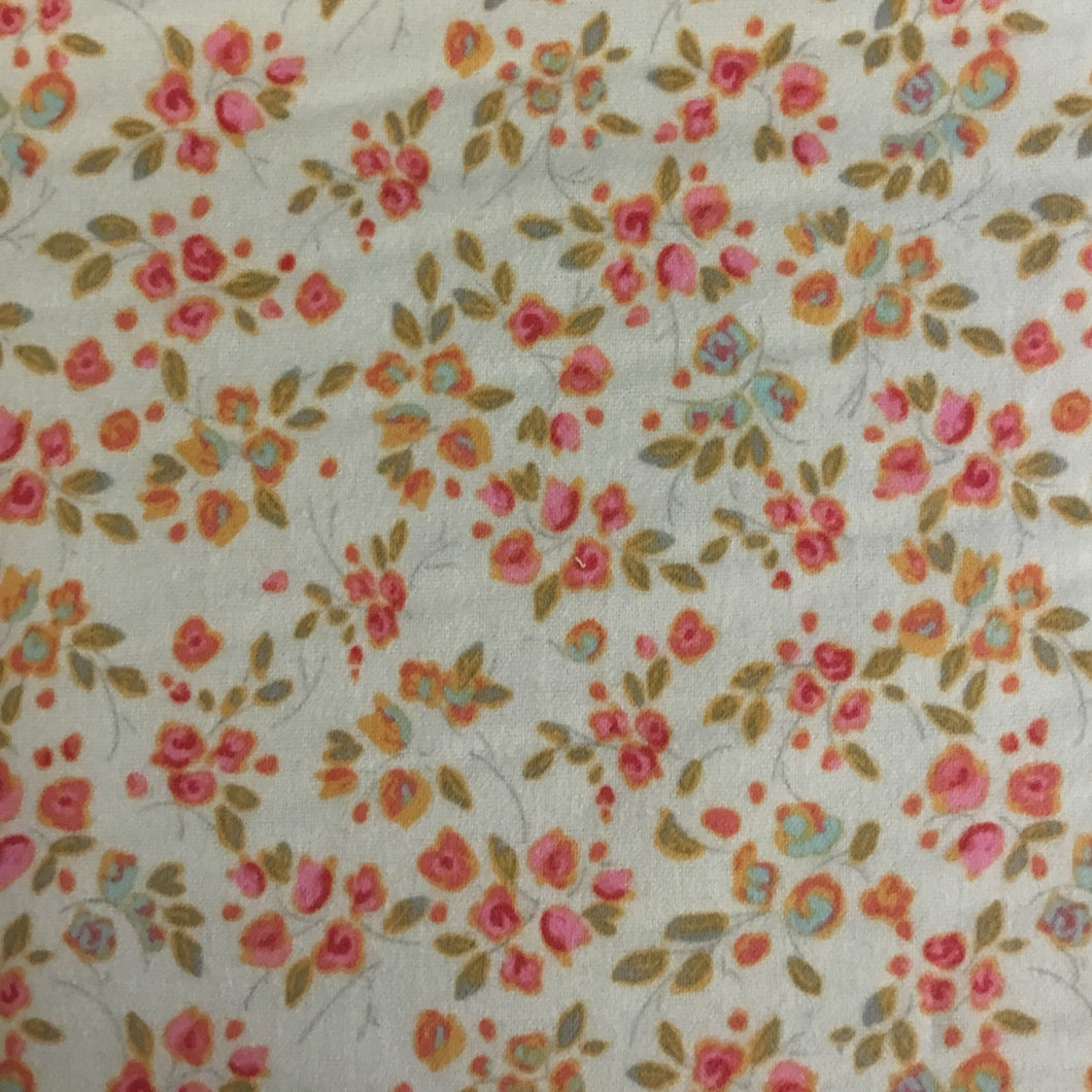 Riley Blake designs Vintage rose 100% cotton flannel fabric