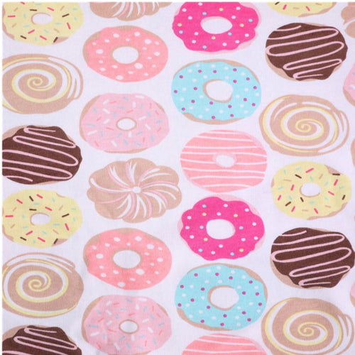 Donuts - 2 way stretch 100% Cotton Jersey fabric - You've Got Me In Stitches