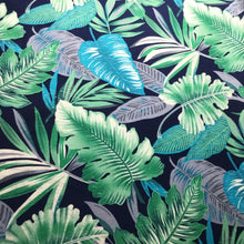 Load image into Gallery viewer, Colourful tropical leaves 100% cotton Poplin fabric