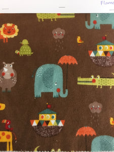 Riley Blake designs Noah's ark 100% cotton flannel - You've Got Me In Stitches