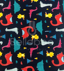 Dinosaurs 100% Cotton Poplin Fabric