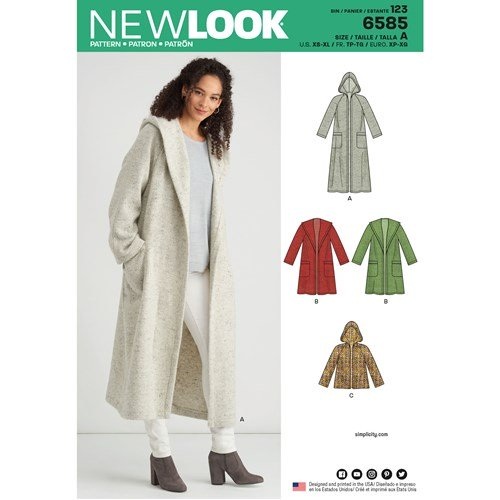 New Look Pattern 6585 Misses' Coat with Hood