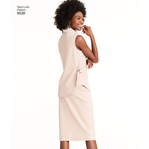 New Look Pattern 6530 Misses' Knit Pants, Skirt and Tunic