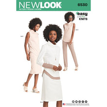 Load image into Gallery viewer, New Look Pattern 6530 Misses' Knit Pants, Skirt and Tunic