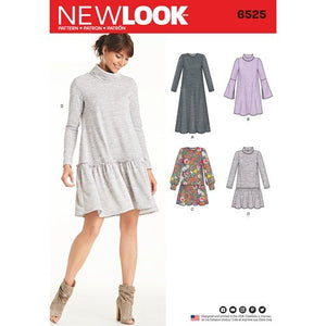 New Look Pattern 6525 Misses' Knit Dress