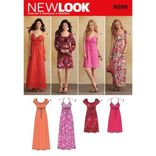 Load image into Gallery viewer, New Look Pattern 6096 Misses' Dresses