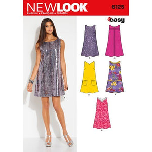 New Look Pattern 6125 Misses' Dress